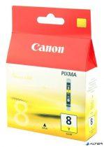 CLI-8Y Tintapatron Pixma iP3500, 4200, 4300 nyomtatókhoz, CANON sárga, 13ml