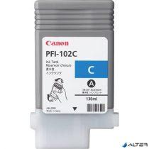 PFI-102C Tintapatron iPF500, 600, 700 nyomtatókhoz, CANON kék, 130ml