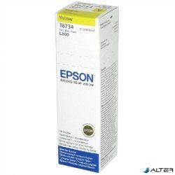 T67344A10 Tintapatron L800 nyomtatóhoz, EPSON sárga, 70ml