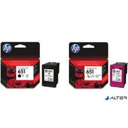 C2P10AE Tintapatron Deskjet Ink Advantage 5575 nyomtatóhoz, HP 651 fekete, 600 oldal