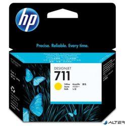 CZ132A Tintapatron DesignJet T120,T520 nyomtatókhoz, HP 711 sárga, 29 ml