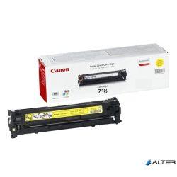 CRG-718Y Lézertoner i-SENSYS LBP 7200CDN, MF 8330, 8350CDN nyomtatókhoz, CANON sárga, 2,9k