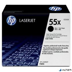 CE255X Lézertoner LaserJet P3015 nyomtatóhoz, HP fekete, 12,5k