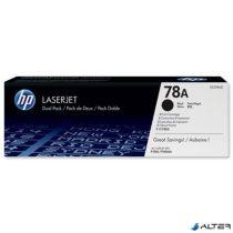 CE278A Lézertoner LaserJet P1566, P1606 nyomtatókhoz, HP fekete, 2,1k