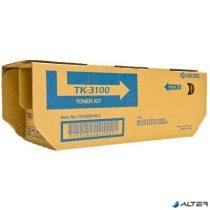 TK3100 Lézertoner FS 2100D, FS2100DN nyomtatókhoz, KYOCERA fekete, 12,5k