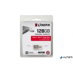 """Pendrive, 128GB, USB 3.1+Type-C, 100/15 MB/s, KINGSTON """"MicroDuo 3C"""""""