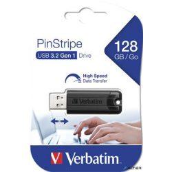 "Pendrive, 128GB, USB 3.0, VERBATIM ""Pinstripe"", fekete"