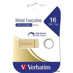 "Pendrive, 16GB, USB 3.0,  VERBATIM ""Exclusive Metal"" arany"