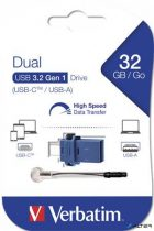 "Pendrive, 32GB, USB 3.0+USB-C adapter, VERBATIM, ""DUAL"""