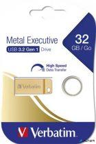 "Pendrive, 32GB, USB 3.0,  VERBATIM ""Exclusive Metal"" arany"