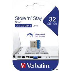 "Pendrive, 32GB, USB 3.0, 80/25MB/sec, VERBATIM ""NANO STORE 'N' STAY"""