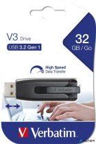 """Pendrive, 32GB, USB 3.0, 60/12MB/sec, VERBATIM """"V3"""", fekete-szürke"""