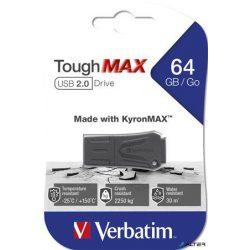 "Pendrive, extra ellenálló, 64GB, USB 2.0, VERBATIM ""ToughMAX"", fekete"