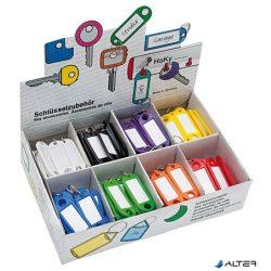 Kulcscímke display 200 db, S -akasztóval, WEDO, 8 különböző színben