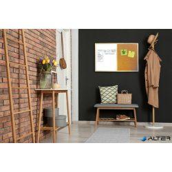 Kombi tábla, 40x60 cm, fakeret, VICTORIA